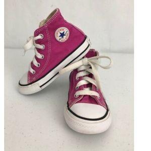 Converse All Star Toddler size 7 Pink Hi Top